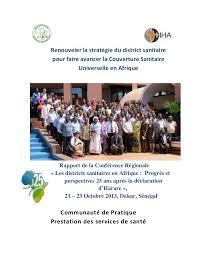 LES DISTRICTS SANITAIRES EN AFRIQUE